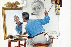 the-Norman-Rockwell-Triple-Self-Portrait-1960-2